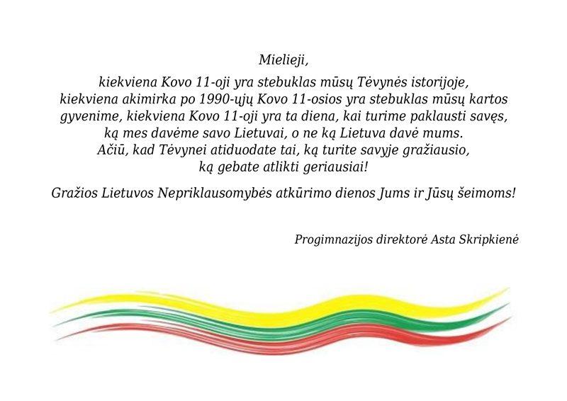 Direktores sveikinimas 03.11